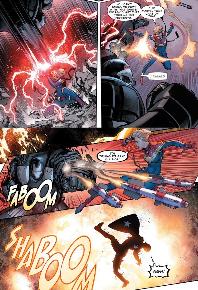 Tạo riêng một siêu chiến giáp để khắc chế Captain Marvel, nhưng Iron Man vẫn bị bán hành đến hôn mê bất tỉnh - Ảnh 4.