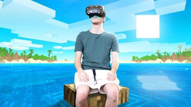 Thử thách điên rồ: Chơi Minecraft thực tế ảo liên tục trong 24h - Ảnh 1.