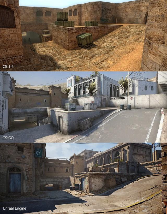 Ngỡ ngàng trước vẻ đẹp của map huyền thoại CS: De_Dust 2 khi được làm lại với Unreal Engine 4 - Ảnh 1.