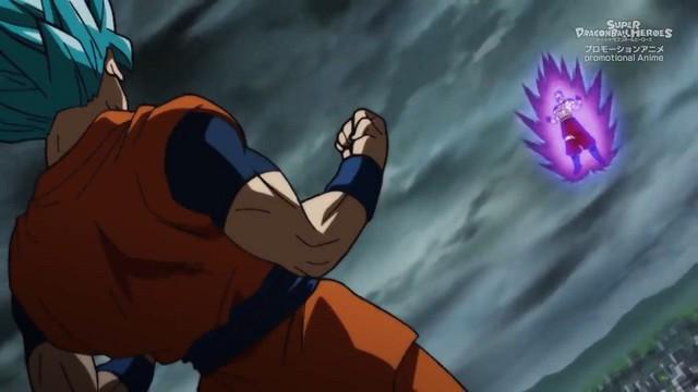 Super Dragon Ball Heroes tập 13: Goku gục ngã khi đối đầu với Super Hearts cho dù đã hóa Super Saiyan Blue - Ảnh 1.