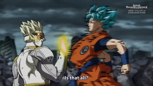 Super Dragon Ball Heroes mang đến cảnh chiến đấu ấn tượng giữa Goku và thủ lĩnh nhóm xâm lăng tối thượng - Ảnh 1.
