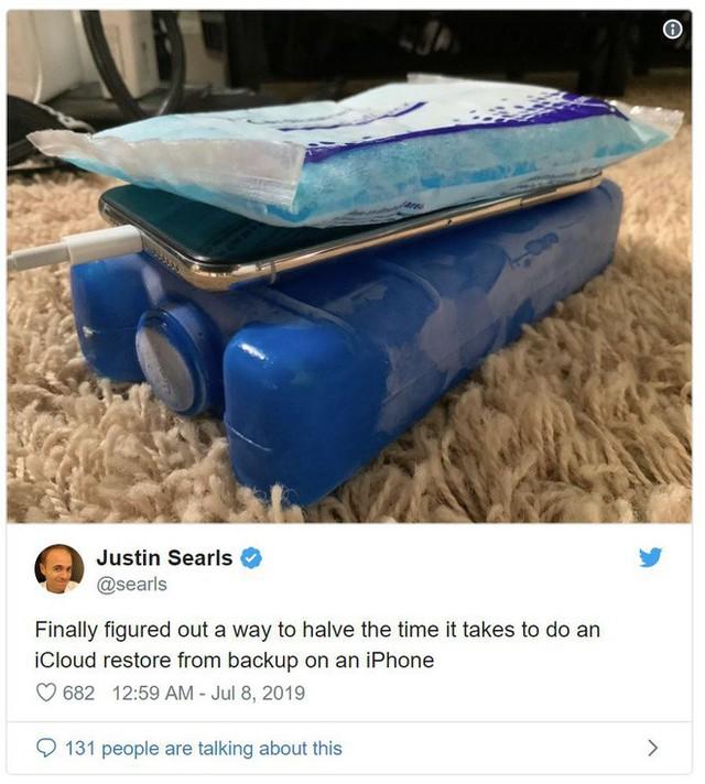 Làm iPhone chạy nhanh thần tốc bằng những viên đá lạnh - Ảnh 2.