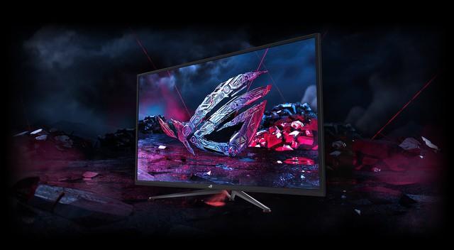 Asus giới thiệu mẫu màn hình khủng long chiến game bao phê ROG Strix XG438Q - Ảnh 1.
