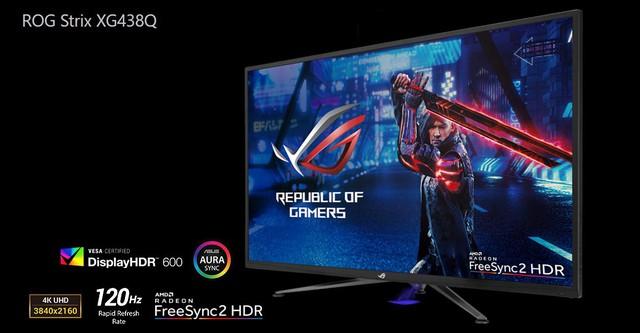 Asus giới thiệu mẫu màn hình khủng long chiến game bao phê ROG Strix XG438Q - Ảnh 3.