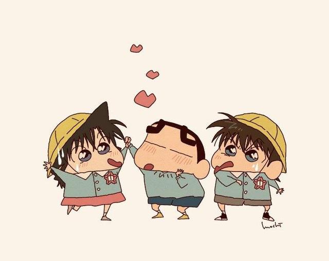 Từ Conan, One Piece tới Dragon Ball đều hóa Shin - Cậu bé bút chì qua bộ fan art vui nhộn - Ảnh 4.