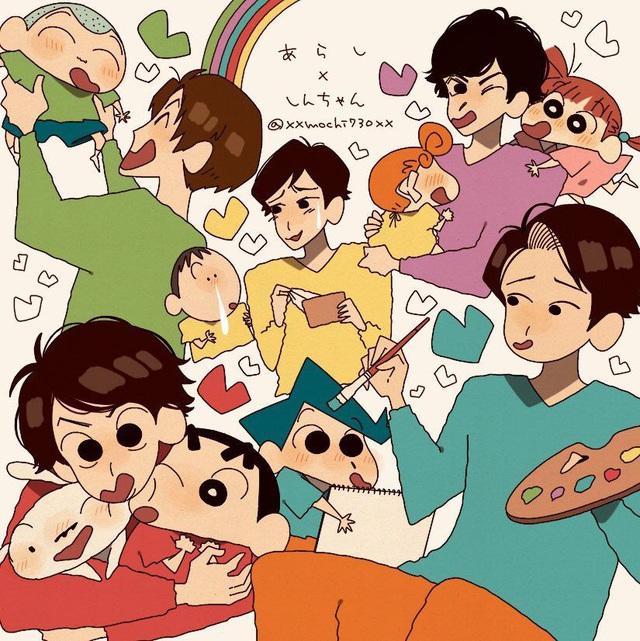 Từ Conan, One Piece tới Dragon Ball đều hóa Shin - Cậu bé bút chì qua bộ fan art vui nhộn - Ảnh 19.