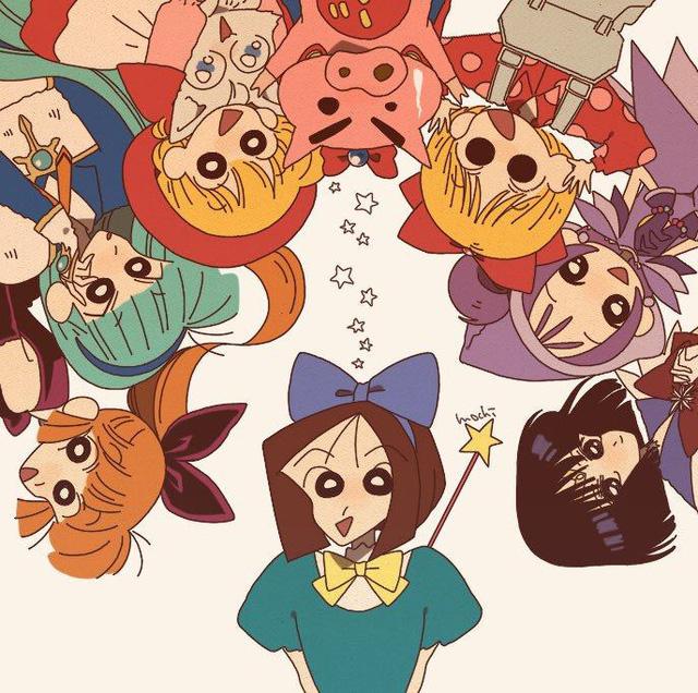 Từ Conan, One Piece tới Dragon Ball đều hóa Shin - Cậu bé bút chì qua bộ fan art vui nhộn - Ảnh 15.