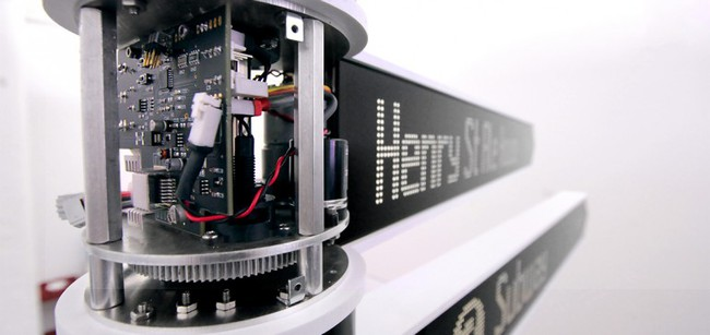 The Points designers built a custom system of gears and motors that could fit inside a sli...