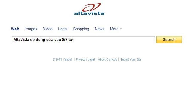 Yahoo đóng cửa AltaVista, Axis cùng hàng loạt dịch vụ khác
