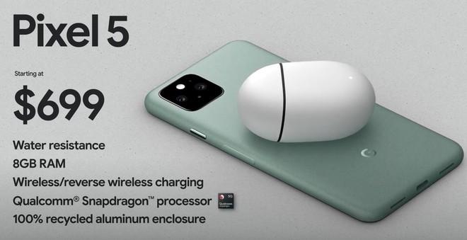 Pixel 5 ra mắt: Snapdragon 765G, camera kép, có kháng nước IP68, giá từ 699 USD - Ảnh 7.