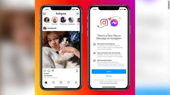 Facebook thực hiện cập nhật lớn đầu tiên trong kế hoạch liên kết Instagram, Messenger và WhatsApp - Ảnh 1.