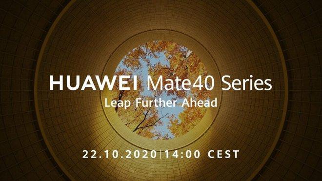 Chính thức: Huawei Mate 40 sẽ ra mắt vào ngày 22/10 - Ảnh 1.