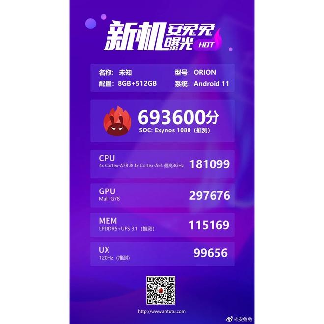 Exynos 1080 5nm lộ điểm benchmark khủng trên AnTuTu, vượt mặt Snapdragon 865+ - Ảnh 1.