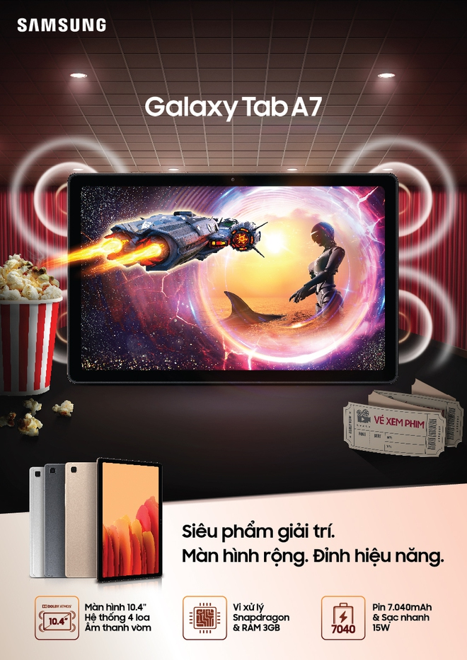 Galaxy Tab A7 ra mắt tại VN: Màn hình 10.4 inch, 4 loa, Snapdragon 662, pin 7040mAh, giá 7.9 triệu - Ảnh 1.