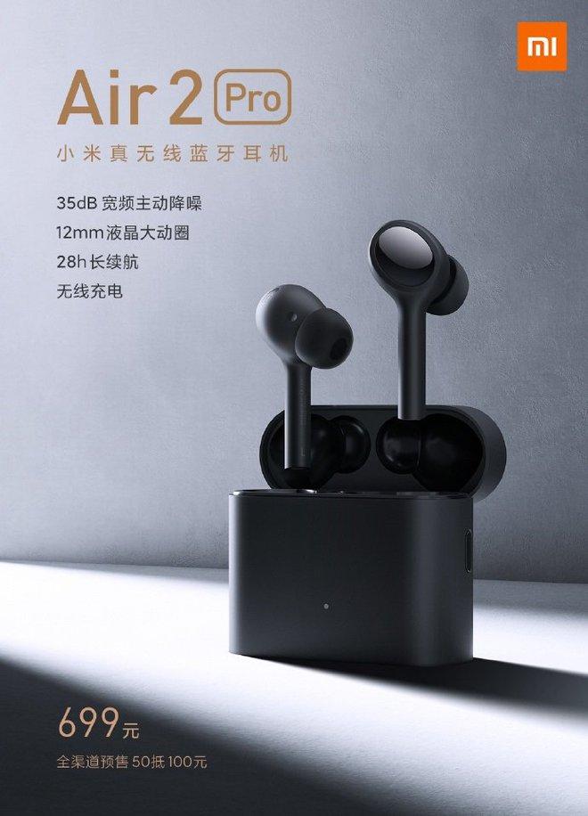 Xiaomi ra mắt tai nghe không dây Mi Air 2 Pro, có chống ồn ANC, pin 7 giờ, giá 2.4 triệu đồng - Ảnh 1.
