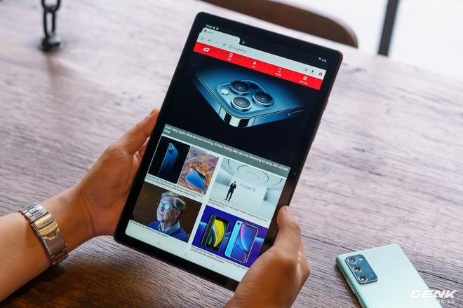 Mở hộp Samsung Galaxy Tab A7: thiết kế pha lẫn hoài cổ và hiện đại, loa là điểm mạnh - Ảnh 3.