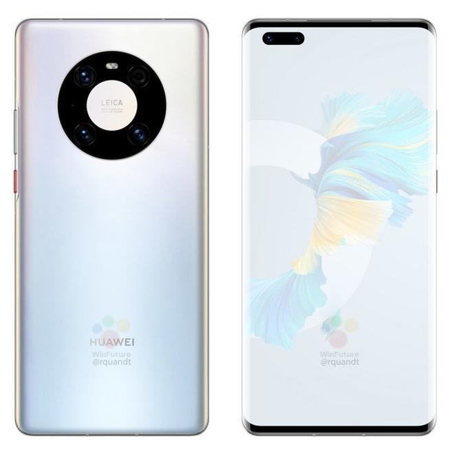 Huawei Mate 40 Pro lộ ảnh render: Cụm camera mới, chip Kirin 9000, sạc 65W - Ảnh 3.