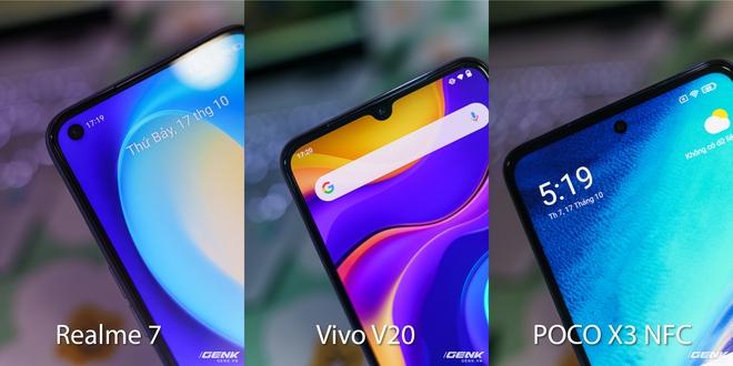 So sánh 3 smartphone tầm trung nổi bật cùng tầm giá: Realme 7 vs Vivo V20 vs POCO X3 NFC - Ảnh 4.