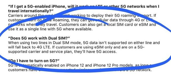 iPhone 12 không dùng được 5G khi lắp 2 SIM - Ảnh 1.