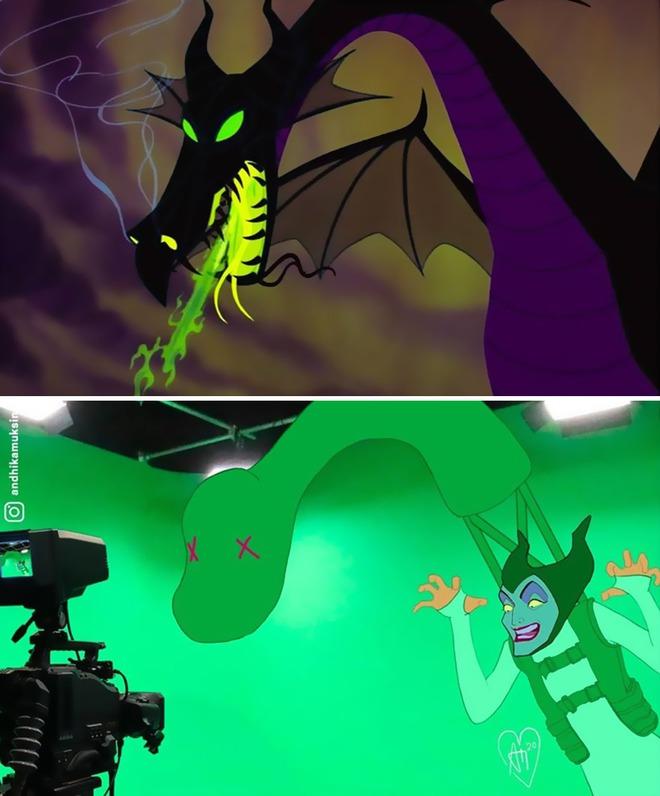 Khi các cảnh quay nổi tiếng của Disney được khán giả chế lại ảnh hậu trường thì trông sẽ như thế nào? - Ảnh 2.
