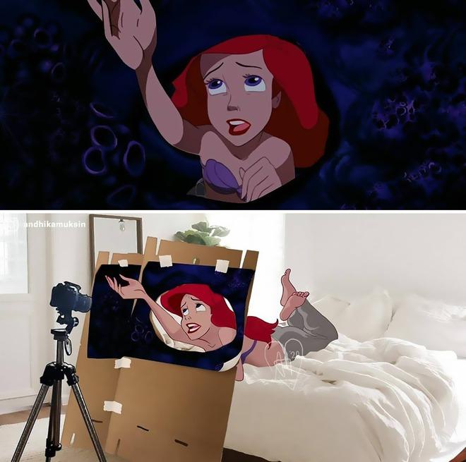 Khi các cảnh quay nổi tiếng của Disney được khán giả chế lại ảnh hậu trường thì trông sẽ như thế nào? - Ảnh 7.