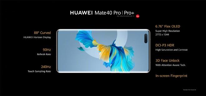 Huawei Mate40 series ra mắt: Kirin 9000 5G, màn hình 90Hz, camera siêu khủng, sạc nhanh 66W, giá từ 24.6 triệu đồng - Ảnh 4.