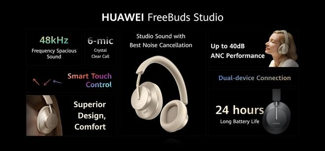 Huawei ra mắt bộ ba phụ kiện chanh sả cho Mate40: Watch GT 2 Porsche Design, tai nghe FreeBuds Studio, kính thông minh Gentle Monster - Ảnh 4.