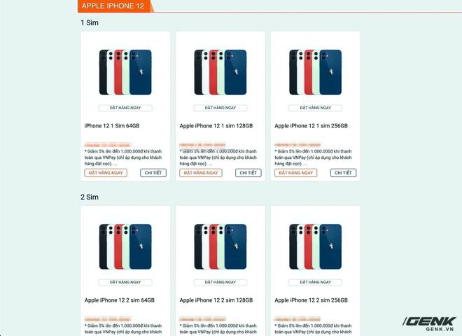 Website các cửa hàng lớn nhỏ rợp bóng iPhone 12 VN/A, thị trường xách tay đang nhạt dần? - Ảnh 4.