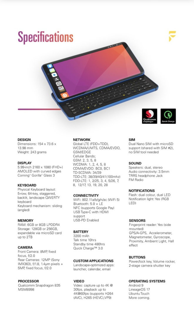 Diễn đàn công nghệ XDA trình làng smartphone đầu tiên Pro1-X: Chạy được cả LineageOS và Ubuntu Touch - Ảnh 8.