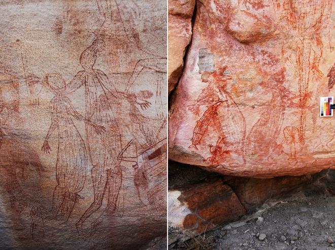 Những bức vẽ khổng lồ trên đá tiết lộ cuộc sống của thổ dân Australia gần 10.000 năm trước - Ảnh 1.