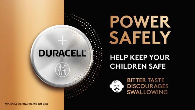 Pin cúc áo của Duracell nay có vị đắng để ngăn trẻ em hiếu kỳ nuốt mất - Ảnh 1.
