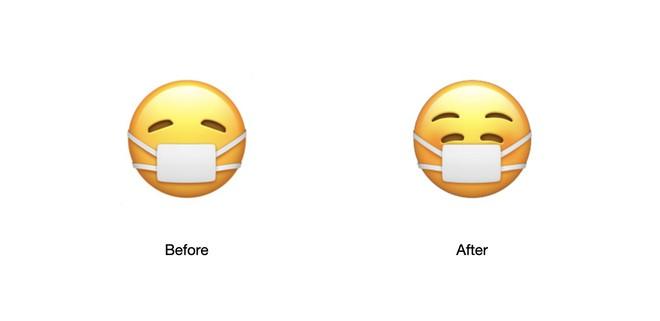 Thay đổi tinh tế đằng sau biểu tượng mặt cười đeo khẩu trang của iOS 14.2 - Ảnh 1.