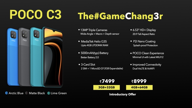 POCO C3 ra mắt: Helio G35, pin 5000mAh, 3 camera sau, giá từ 2.4 triệu đồng - Ảnh 3.