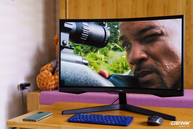 Trên tay và trải nghiệm nhanh Odyssey G5: màn hình cong chuyên game 144 Hz, tốc độ đáp ứng 1ms từ Samsung - Ảnh 16.