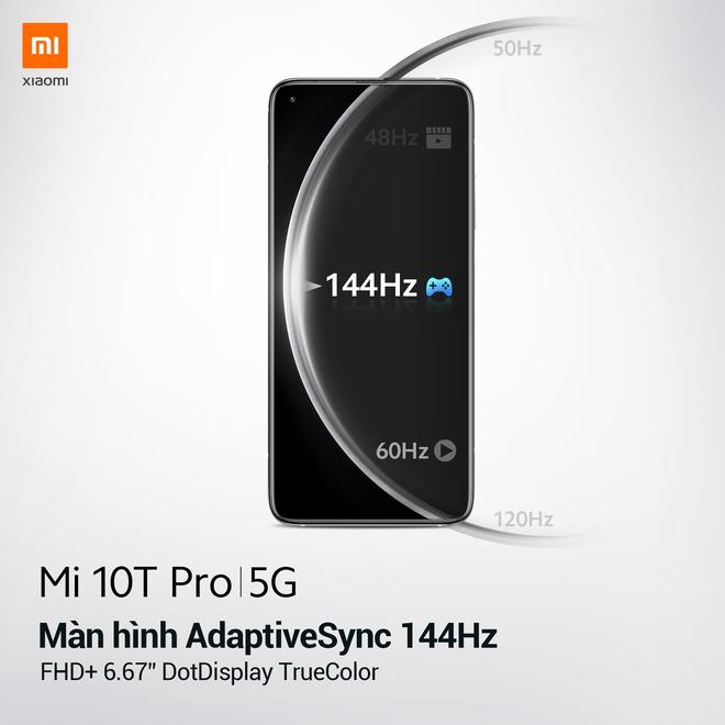 Xiaomi Mi 10T Pro ra mắt: Màn hình 144Hz, camera 108MP, Snapdragon 865, giá từ 11.9 triệu đồng - Ảnh 3.