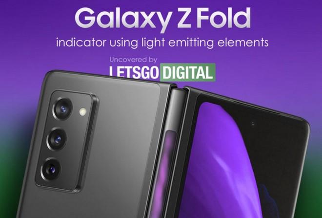 Galaxy Z Fold 3 có thể trang bị dải đèn LED thông báo ngay trên bản lề? - Ảnh 1.