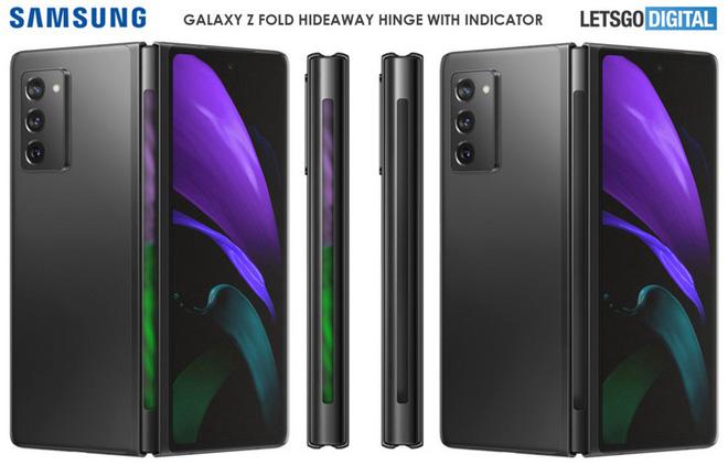 Galaxy Z Fold 3 có thể trang bị dải đèn LED thông báo ngay trên bản lề? - Ảnh 2.