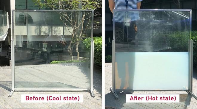 Thử nghiệm loại kính cửa sổ bằng chất lỏng mới giúp giảm nhiệt độ các tòa nhà và tiết kiệm điện năng - Ảnh 2.
