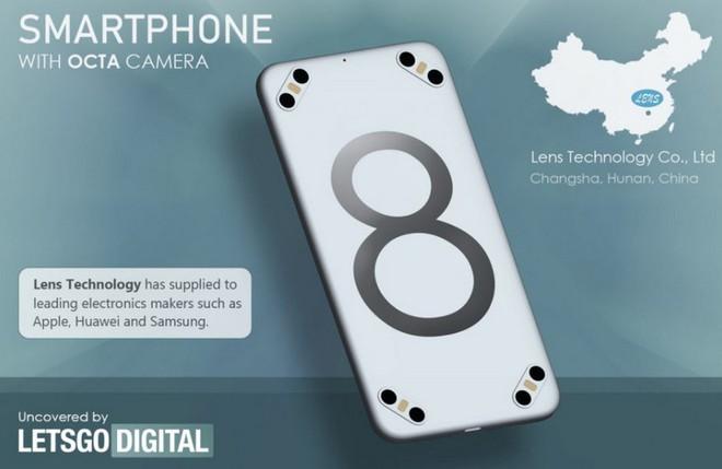 Xuất hiện bằng sáng chế về một chiếc smartphone có tới 8 camera sau và 4 đèn flash LED? - Ảnh 1.