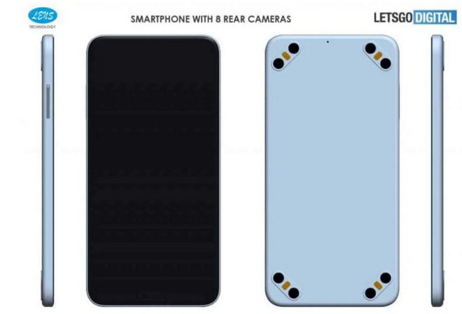 Xuất hiện bằng sáng chế về một chiếc smartphone có tới 8 camera sau và 4 đèn flash LED? - Ảnh 2.