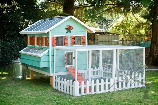 Hóa ra xây chuồng gà cũng có thể sáng tạo được tới mức này - Ảnh 13.