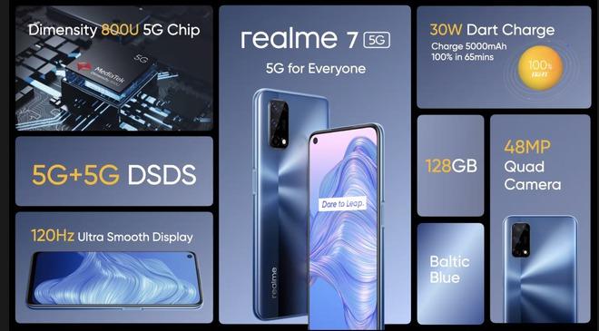 Realme 7 5G ra mắt: Màn hình 120Hz, Dimensity 800U, 4 camera sau, sạc nhanh 30W, giá 8.6 triệu đồng - Ảnh 2.