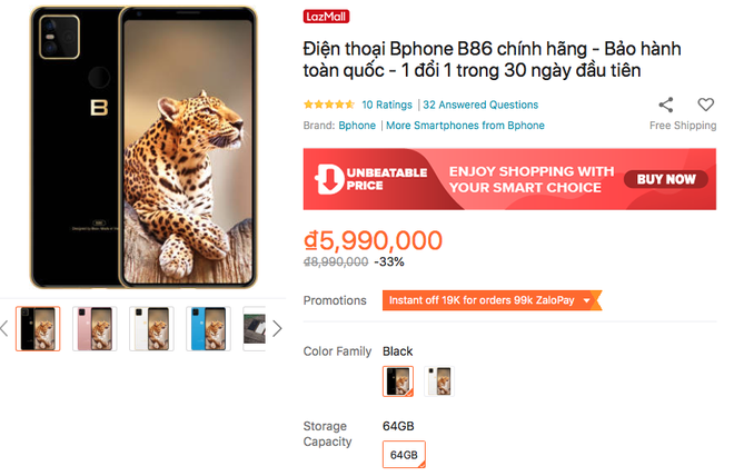 Bphone B86 giảm giá 3 triệu đồng - Ảnh 2.