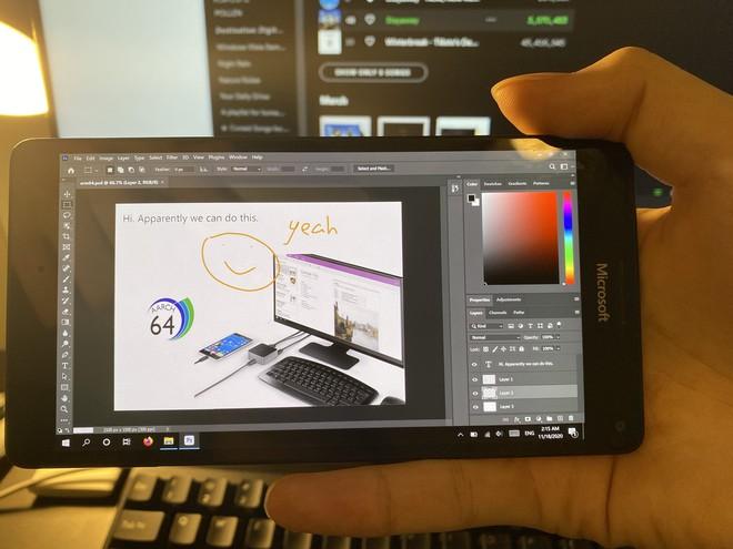 Smartphone Lumia cài Windows 10 ARM có thể chạy được cả Photoshop - Ảnh 1.