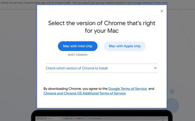 Google ra mắt trình duyệt Chrome dành cho máy Mac chạy chip Apple M1 - Ảnh 1.