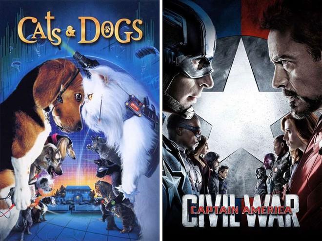 """Những pha """"mượn ý tưởng cực khét của designer khiến poster 2 bộ phim vốn không liên quan lại giống nhau đến kỳ lạ - Ảnh 9."""