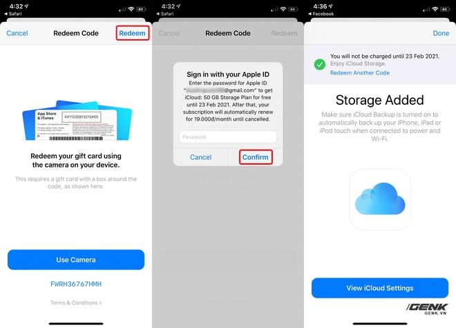 Hướng dẫn nhận 50GB dung lượng iCloud miễn phí trong 9 tháng - Ảnh 3.