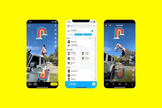 Snapchat ra mắt tính năng Spotlight sao chép y hệt TikTok - Ảnh 1.