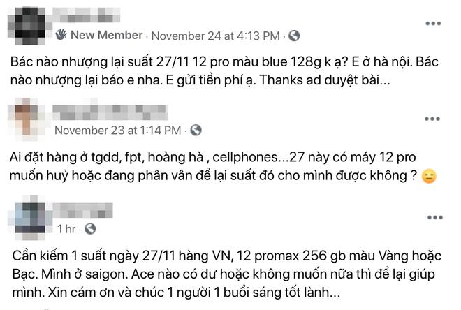 Bỏ tiền mua suất cọc của người khác để được mua iPhone 12 sớm - Ảnh 2.