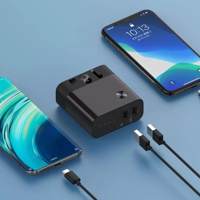 Xiaomi ra mắt củ sạc tích hợp pin dự phòng: 5000mAh, sạc nhanh 18W, 2 cổng USB-A, giá 450.000 đồng - Ảnh 1.